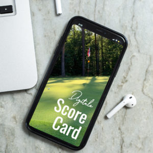 Digitale Scorekarte im Golfclub