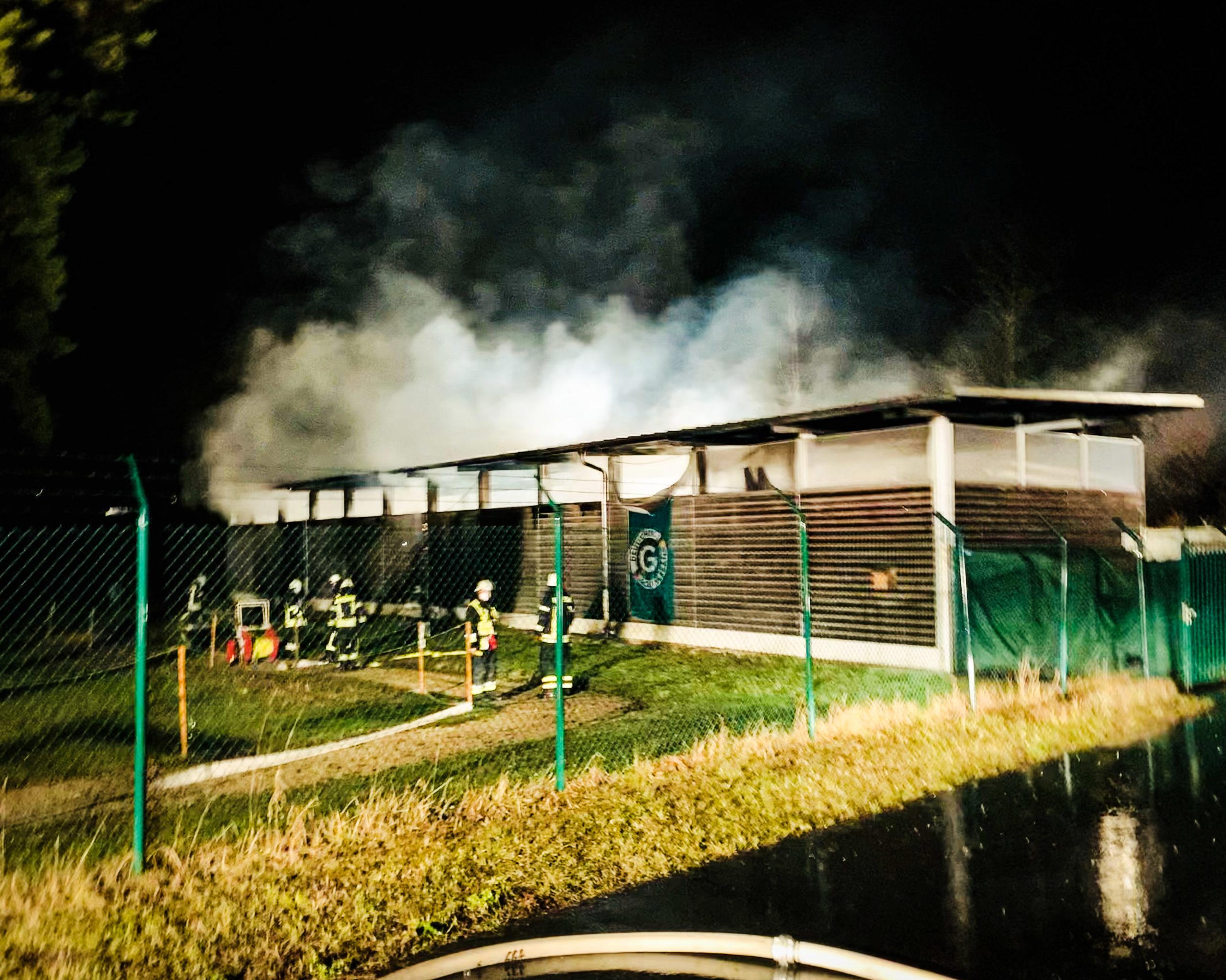 Brand im Golfclub Hauptsmoorwald